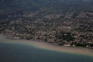 An aerial view of Port-au-Prince, Haiti