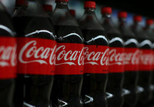 Coca-cola soda is shown on display in Compton, California. California recently banned any new taxes on sugary drinks. Voters will decide whether to overturn that law in 2020. Photo by Mike Blake/Reuters