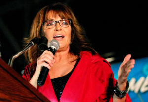 Former vice-presidential candidate Sarah Palin sued The New York Times for unspecified damages after the editorial about gun control was published following the June 2017 shooting of Louisiana U.S. Rep. Steve Scalise, also a Republican, on a baseball diamond in Washington. Photo by Tami Chappell/Reuters