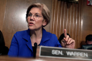 Senator Elizabeth Warren, D-Mass., on Monday released DNA evidence of her Native American ancestry. Photo by Yuri Gripas/Reuters