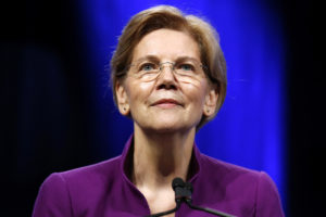 U.S. Senator Elizabeth Warren, D-MA, speaks at the Netroots Nation annual conference for political progressives in New Orleans. Warren on Monday released DNA evidence of her Native American ancestry. Photo by Jonathan Bachman/Reuters