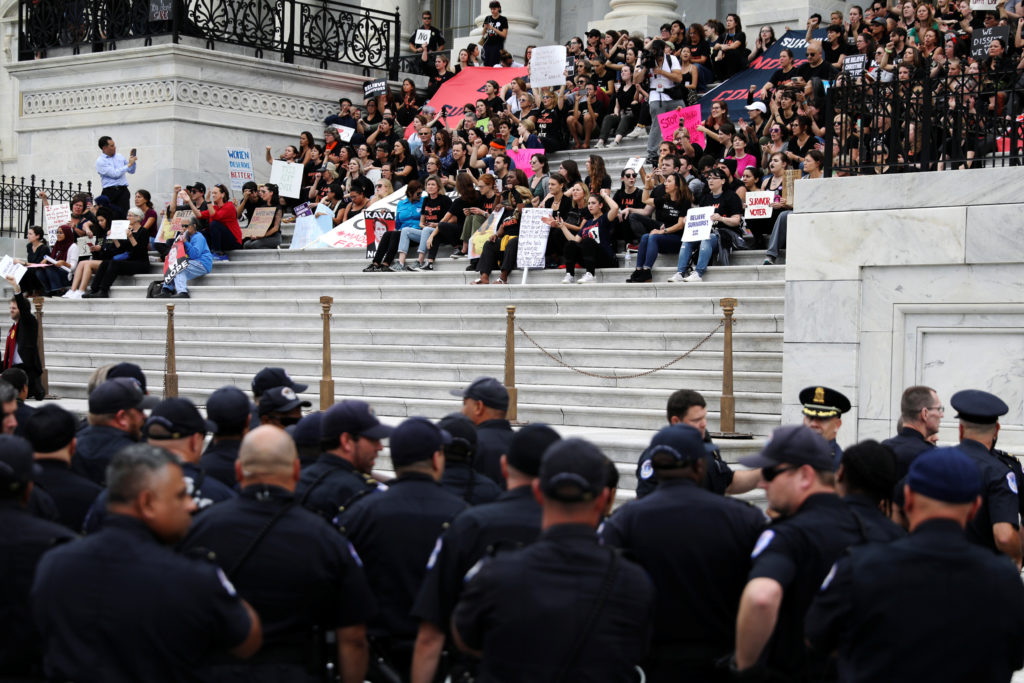 Protesters arrested on US Capitol steps ahead of Brett Kavanaugh confirmation
