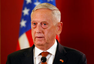 File photo of Secretary of Defense James Mattis by Ognen Teofilovski/Reuters