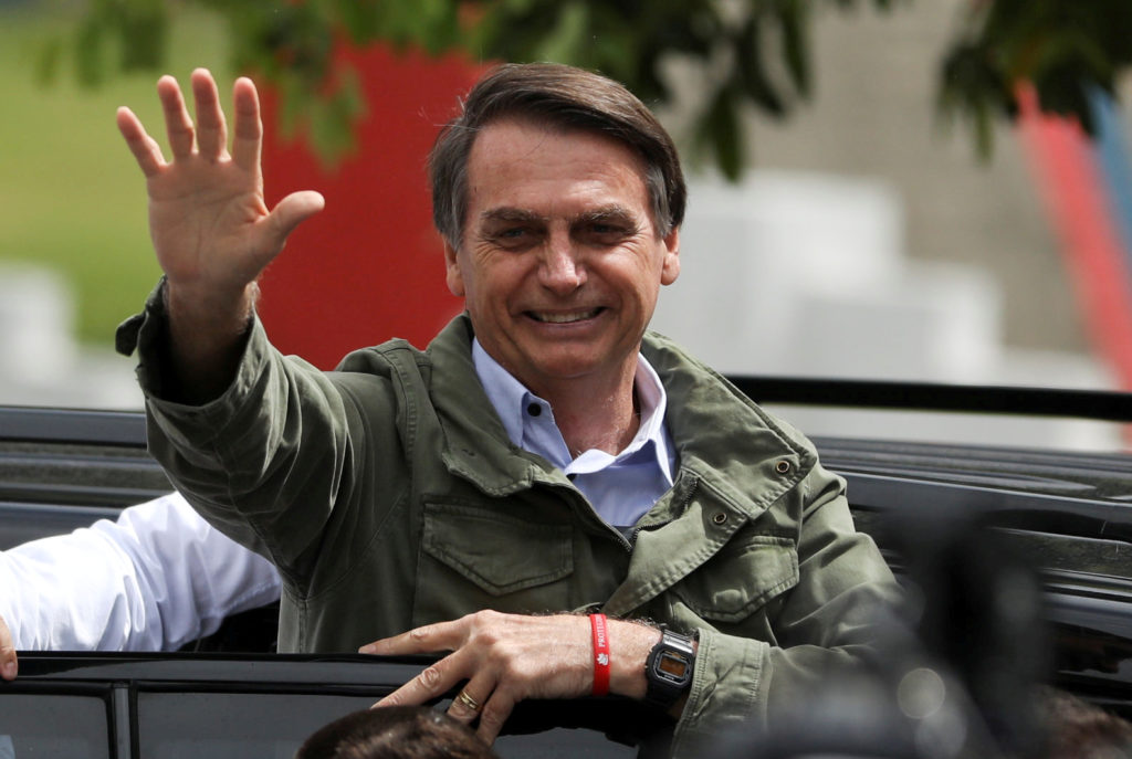 Jair Bolsonaro won Brazil's presidential runoff on Oct. 28. Photo by Pilar Olivares/Reuters