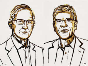 William D. Nordhaus (left) and Paul Romer (right) were awarded the Nobel Memorial Prize in Economic Sciences on Monday. Photo courtesy: The Nobel Prize
