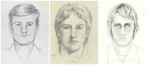 A combination image shows FBI sketches of an unknown individual known as the East Area Rapist/Golden State Killer described as a White male, currently thought to be between the ages of 60 and 75 years old, shown in sketches released on June 15, 2016. Between 1976 and 1986, this individual was responsible for approximately 45 rapes, 12 homicides, and multiple residential burglaries throughout the State of California. Photo by FBI/Handout via REUTERS
