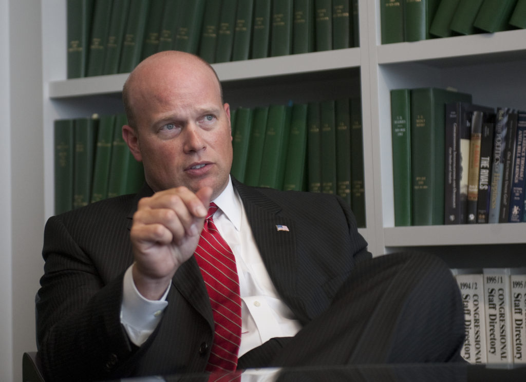 Matthew Whitaker, Jeff Sessions' former chief of staff, has been tapped as the acting attorney general, replacing his former boss. Photo By Douglas Graham/CQ Roll Call