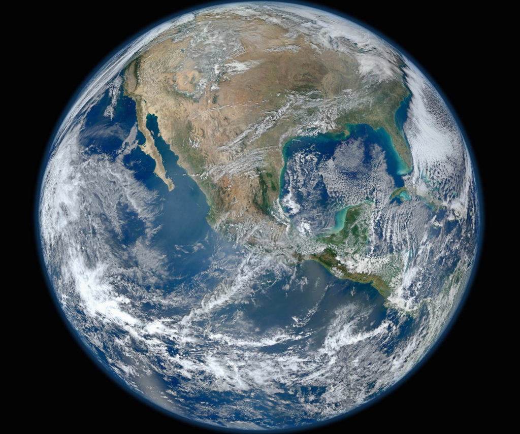 A 'Blue Marble' image of the Earth taken from the VIIRS instrument aboard NASA's most recently launched Earth-observing satellite - Suomi NPP, received by Reuters January 25, 2012. This composite image uses a number of swaths of the Earth's surface taken on January 4, 2012. The NPP satellite was renamed 'Suomi NPP' on January 24, 2012 to honor the late Verner E. Suomi of the University of Wisconsin. REUTERS/NASA/Handout