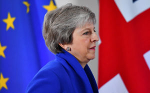 Britain's Prime Minister Theresa May attends a news conference after an extraordinary EU leaders summit to finalise and formalise the Brexit agreement in Brussels, Belgium November 25, 2018. REUTERS/Dylan Martinez/File Photo