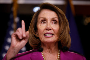 House Minority Leader Nancy Pelosi speaks with reporters during her weekly news conference on Capitol Hill in Washington, U.S., June 21, 2018. REUTERS/Aaron P. Bernstein - RC15B42A6A50