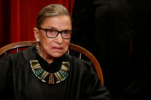 Supreme Court Justice Ruth Bader Ginsburg has been recuperating from lung cancer surgery since late December. Photo by Jonathan Ernst/REUTERS.