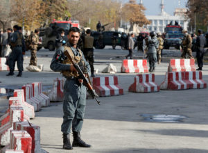 File photo of Afghan policemen in Kabul on Nov. 12. Photo by Omar Sobhani/Reuters