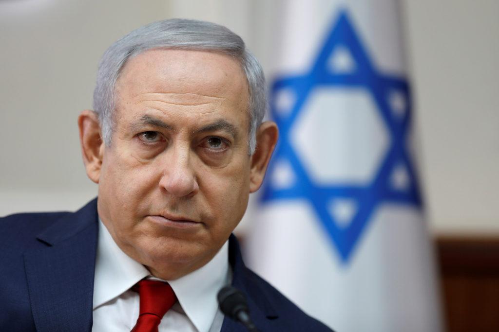 Israel's Prime Minister Benjamin Netanyahu chairs the weekly cabinet meeting in Jerusalem November 18, 2018. Photo by Abir Sultan/Pool via Reuters