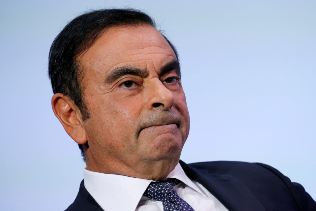 Carlos Ghosn, the chairman and CEO of the Renault-Nissan-Mitsubishi Alliance, is expected to be dismissed after being arrested for engaging in misconduct. Photo by Regis Duvignau/Reuters