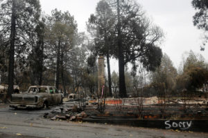 As natural disasters like California's wildfires are exacerbated by climate change, insurance policy experts say homeowners could be stuck with unaffordable premiums. Photo by Elijah Nouvelage/Reuters