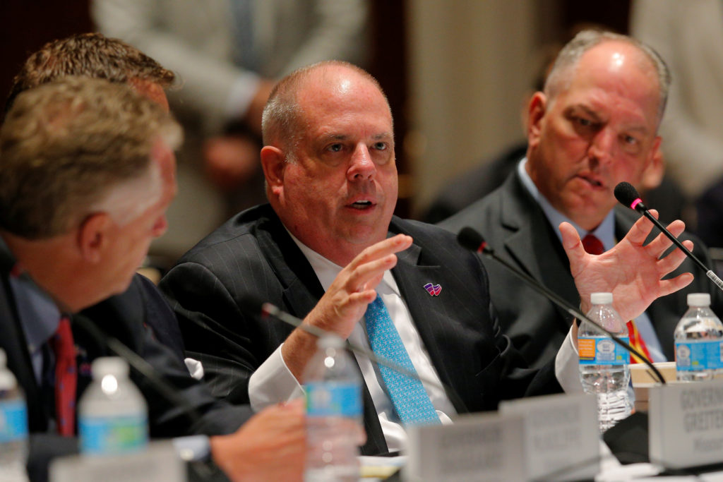 """Maryland Governor Larry Hogan speaks at the """"Curbing the Opioid Epi…"""
