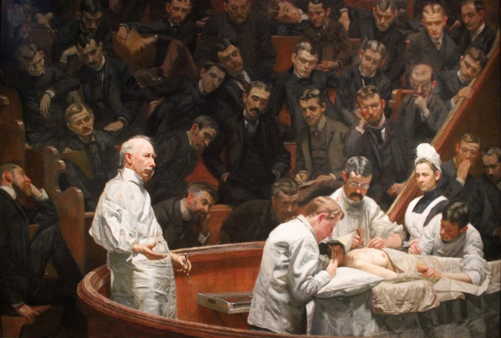 "Thomas Eakins painted ""The Agnew Clinic"" in 1889 at the behest of University of Pennsylvania medical students. Source: Wikimedia Commons"