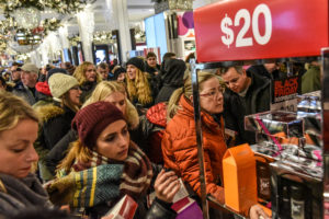 People shop during a Black Friday sales event at Macy's flagship store on 34th St. in New York City, U.S., November 23, 2018. Photo by Stephanie Keith/Reuters