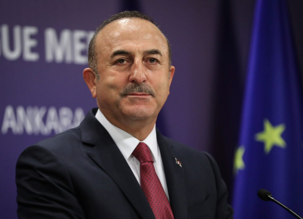 Turkey's Foreign Minister Mevlut Cavusoglu attends a news conferenc…