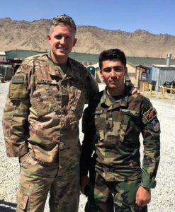 "In one of his last pictures posted to Facebook before an announcement on Saturday that he died in an attack, Mayor of Ogden in Utah Brent Taylor wrote in the caption, ""My friend Lieutenant Kefayatullah, who was killed fighting the Taliban the day before voting began. Brave Afghans are fighting hard for their country."""