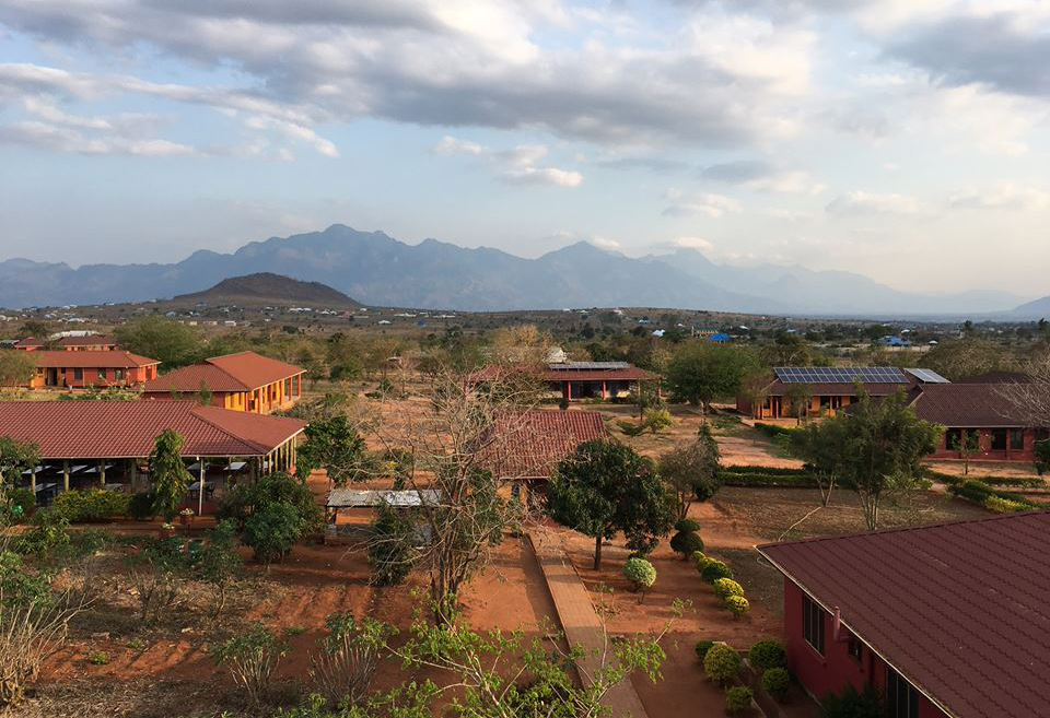 The SEGA campus in Morogoro, Tanzania now has 24 buildings on 30 acres. Photo courtesy of Nurturing Minds in Africa and Sarah Bones Photography
