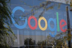 A Google logo is seen at the company's headquarters in Mountain View, California. Photo by: Stephen Lam/Reuters