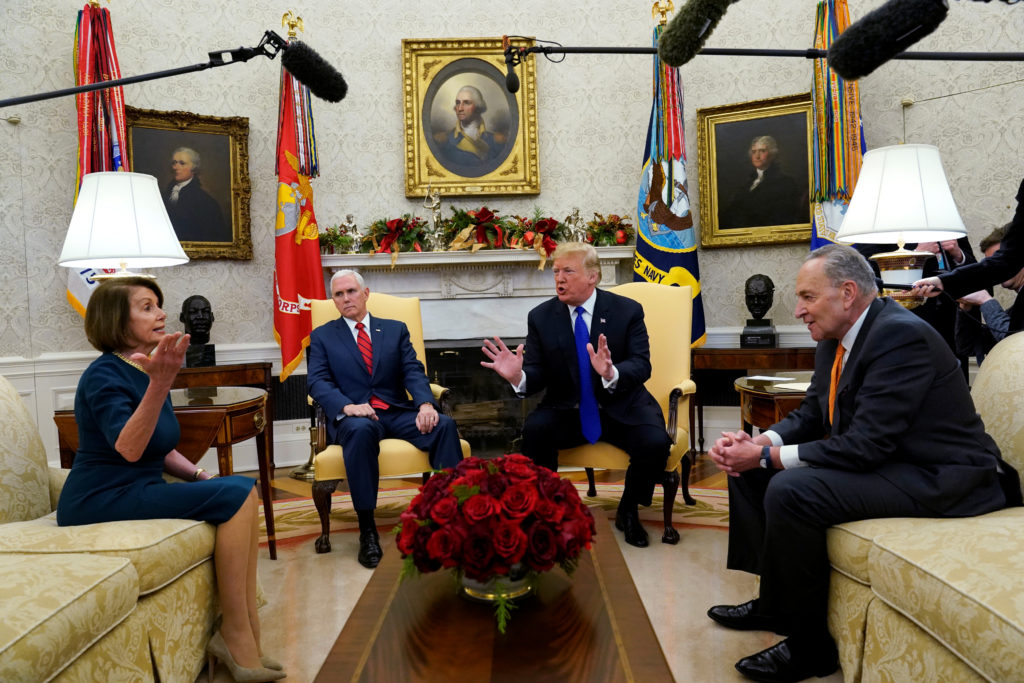 Trump uses Israel's wall as example in negotiation with Pelosi and Schumer