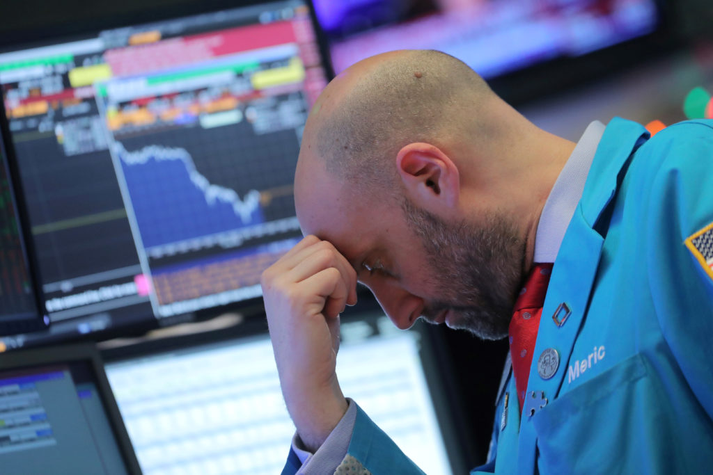 Second straight plunge knocks stocks to lowest levels in more than a year