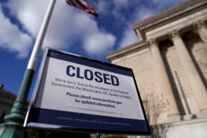 The National Archive closed due to a partial federal government shutdown in Washington on Dec. 22, 2018. Photo by Joshua Roberts/Reuters