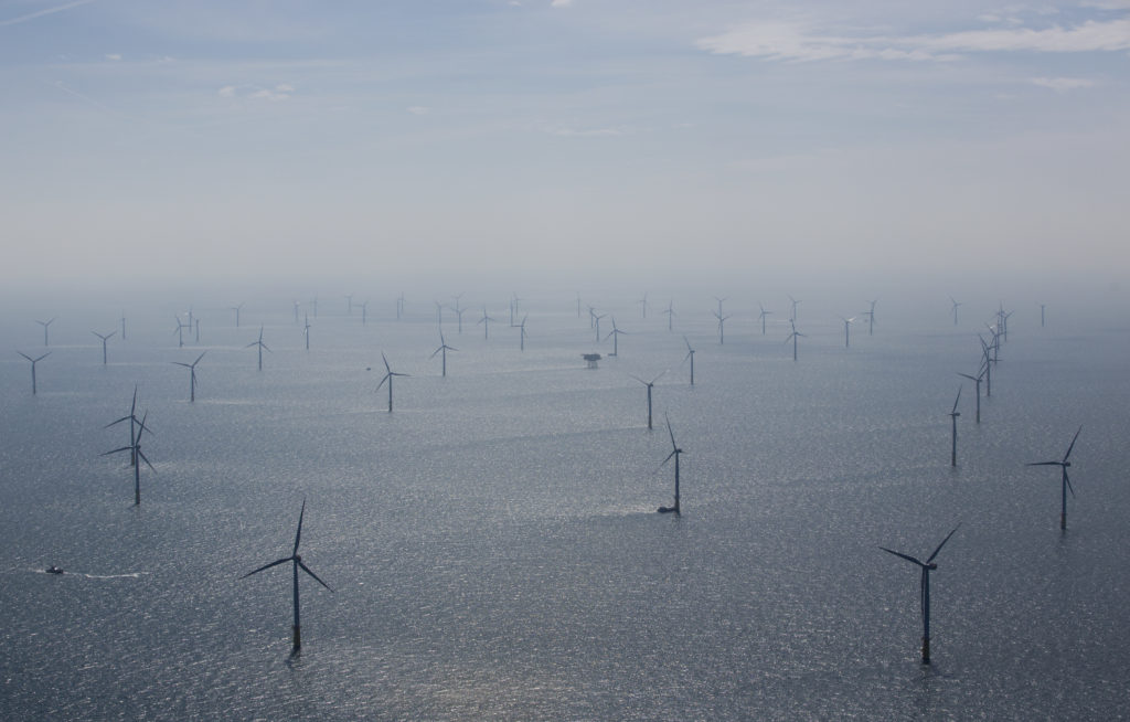 Wind turbines are pictured in RWE Offshore-Windpark Nordsee Ost in the North sea, 30 km from Helgoland, Germany, May 11, 2015.  Photo by REUTERS/Christian Charisius/Pool