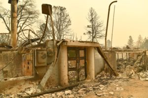 Paradise Elementary School is seen after burning down during the Camp fire in Paradise, California, on Nov. 12. Photo by Josh Edelson/AFP/Getty Images