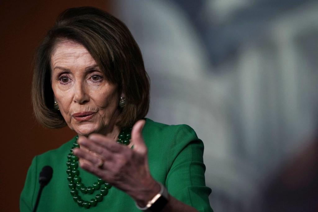 WASHINGTON, DC - DECEMBER 06: U.S. House Minority Leader Rep. Nancy Pelosi (D-CA) speaks during her weekly news conference...