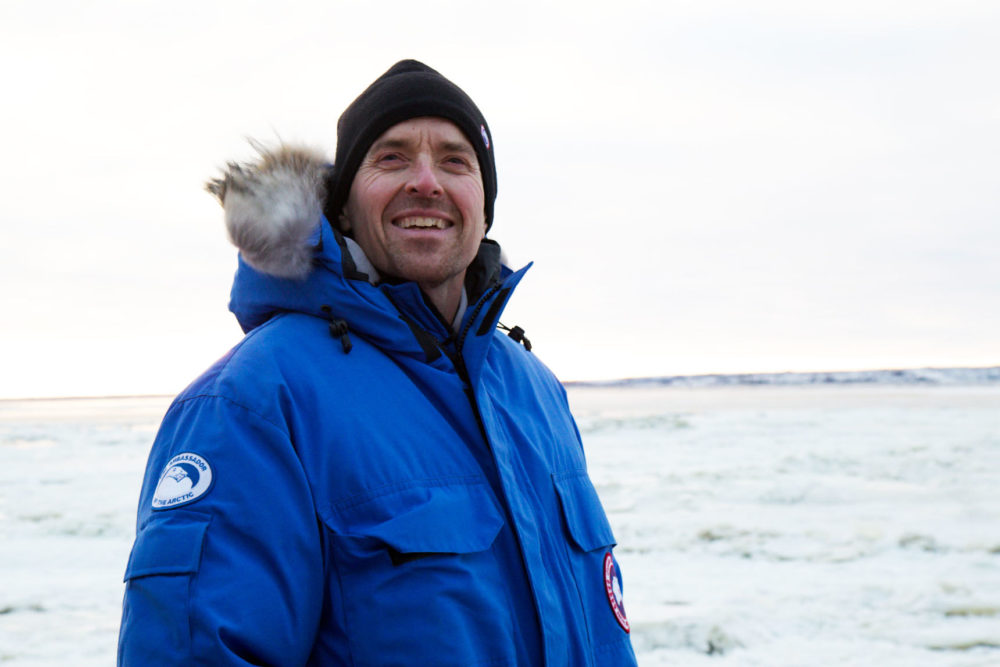Biologist Geoff York is developing a new radar system that will alert communities of approaching polar bears. Photo by KT Miller/Polar Bears International