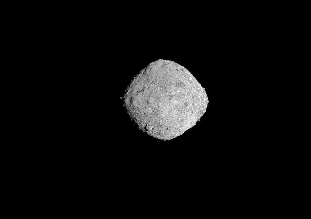 NASA's OSIRIS-REx spacecraft obtained this image of the asteroid Bennu on November 16, 2018, from a distance of 85 miles. Image by NASA/Goddard/University of Arizona