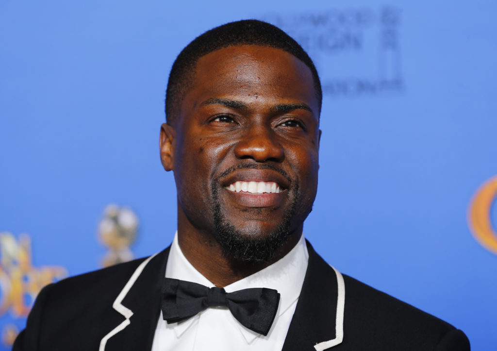 Actor Kevin Hart poses backstage during the 72nd Golden Globe Awards in Beverly Hills, California. Photo by Mike Blake/Reuters