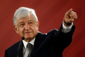 Mexico's new President Andres Manuel Lopez Obrador holds a news conference at National Palace in Mexico City. Photo by Edgard Garrido/Reuters