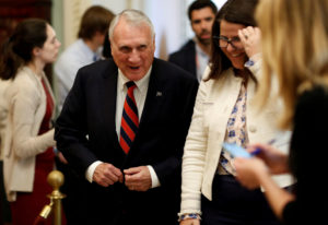 Senator Jon Kyl (R-AZ) walks from a Republican Senate caucus meeting with U.S. Vice President Mike Pence on Capitol Hill in Washington, U.S., September 26, 2018. Photo by Joshua Roberts/Reuters