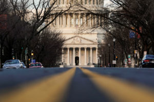 The U.S. Capitol is pictured on the first day of a partial federal government shutdown in Washington, U.S., December 22, 2018. Photo by Joshua Roberts/Reuters