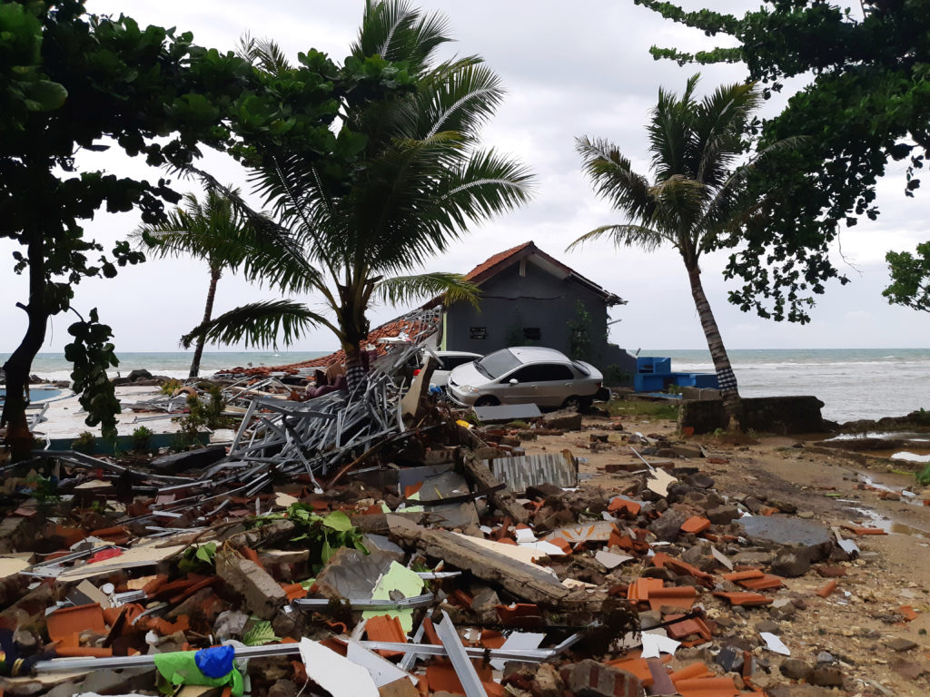 At least 43 killed when tsunami hits beaches in Indonesia