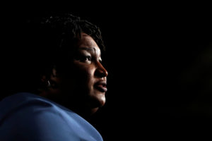 Former Georgia Democratic gubernatorial nominee Stacey Abrams speaks to supporters during a midterm election night party in Atlanta, Georgia, on Nov. 7, 2018. File photo by REUTERS/Leah Millis