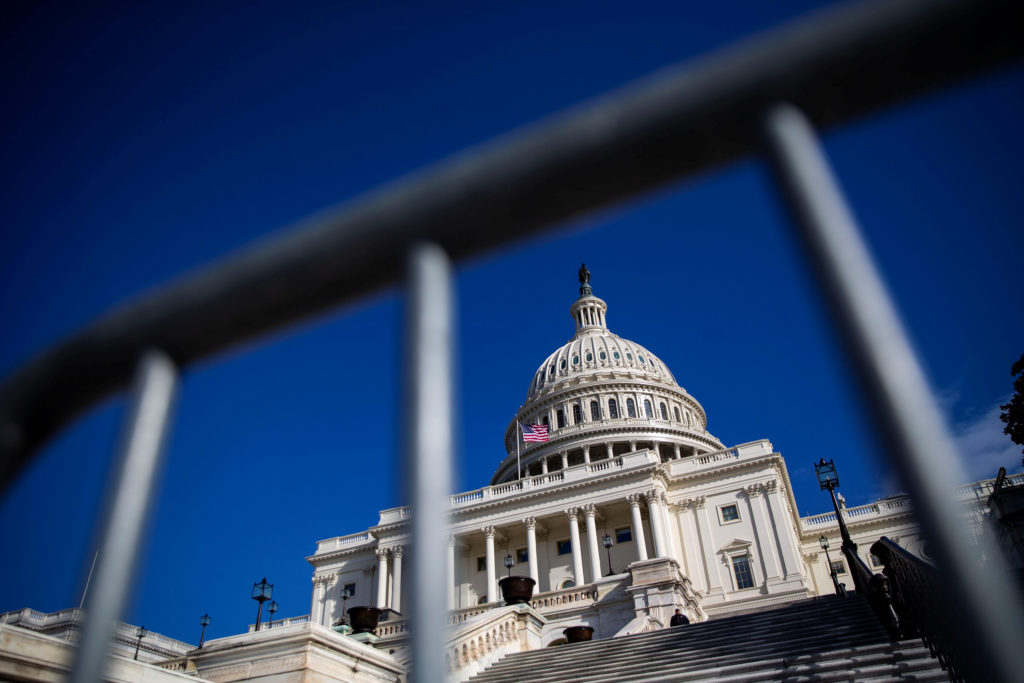 The U.S. Capitol is pictured on day 30 of a partial government shutdown, in Washington, D.C. Photo by Al Drago/Reuters