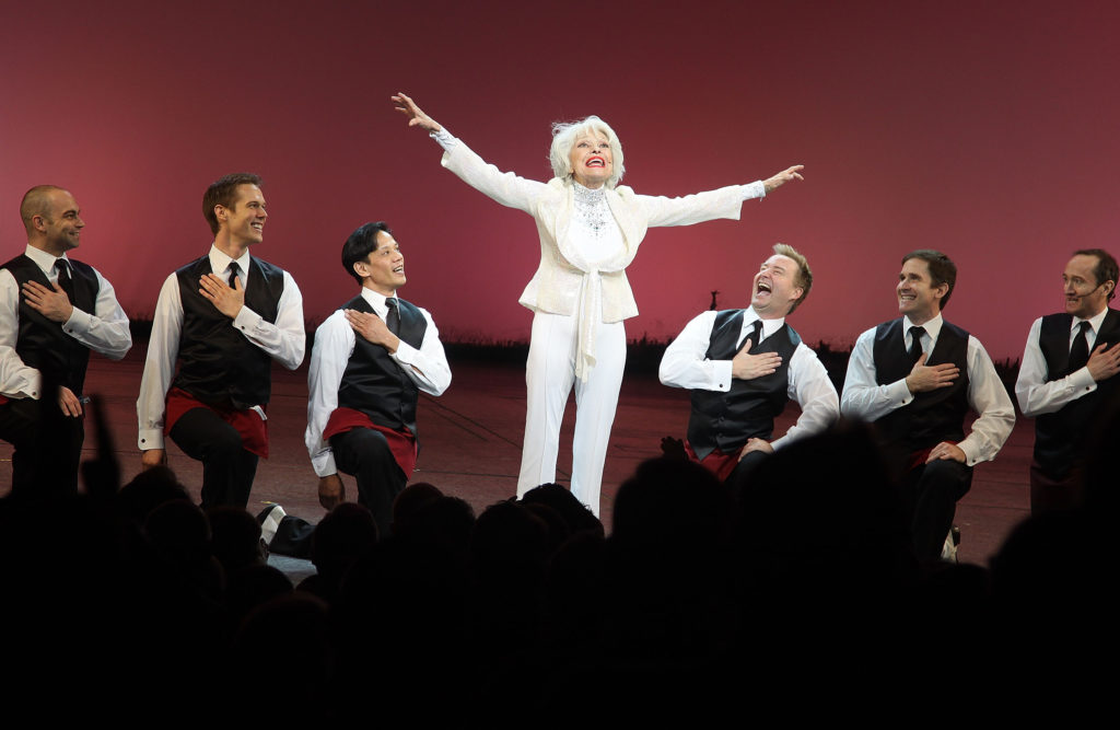 Carol Channing performs and celebrates her 90th birthday during the 2010 Broadway Cares Gypsy of the Year Competition at New Amsterdam Theatre on Dec. 7, 2010 in New York City.