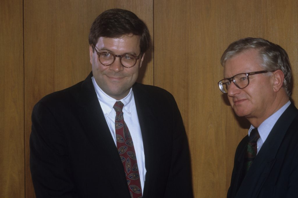 William Barr previously served as attorney general under the George H.W. Bush administration. Photo by Gisbert Paech/ullst...