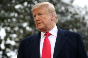 President Donald Trump on Thursday nixed his delegation's trip to the World Economic Forum in Davos, Switzerland. Photo by Leah Millis/Reuters