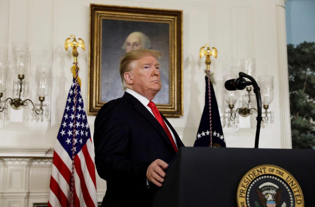 President Donald Trump arrives to deliver remarks on border securit…
