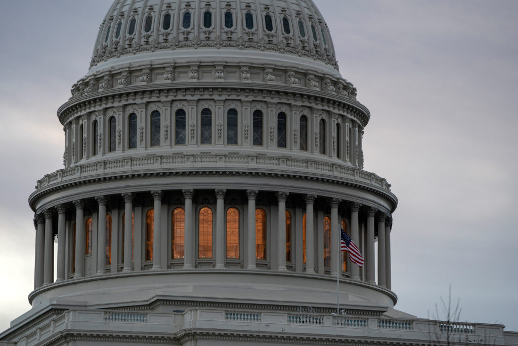 The U.S. Capitol is shown on January 28, 2019. The Congressional Budget Office report indicates the recent government shutdown cost the economy about $3 billion that will not be recovered. Photo by Joshua Roberts/Reuters
