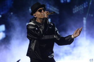 Chris Brown performs during the 2015 BET Awards in Los Angeles, California in 2015. The Grammy Award-winning singer was detained Monday on potential charges of aggravated rape and drug infractions. Photo by Kevork Djansezian/Reuters