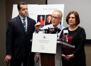 Cindy Yesko is presented as a survivor of clergy sex abuse by a legal team of attorneys Jeff Anderson and Marc Pearlman, during a news conference in Chicago, Illinois, U.S., January 3, 2019. REUTERS/Kamil Krzaczynski