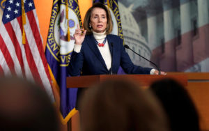 Speaker of the House Nancy Pelosi (D-CA) speaks during a press briefing on the 27th day of a partial government shutdown on Capitol Hill in Washington, U.S., January 17, 2019. REUTERS/Joshua Roberts