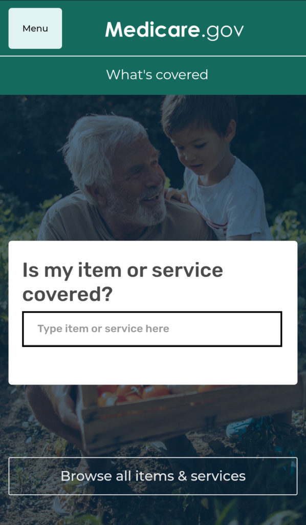 The What's Covered app from CMS